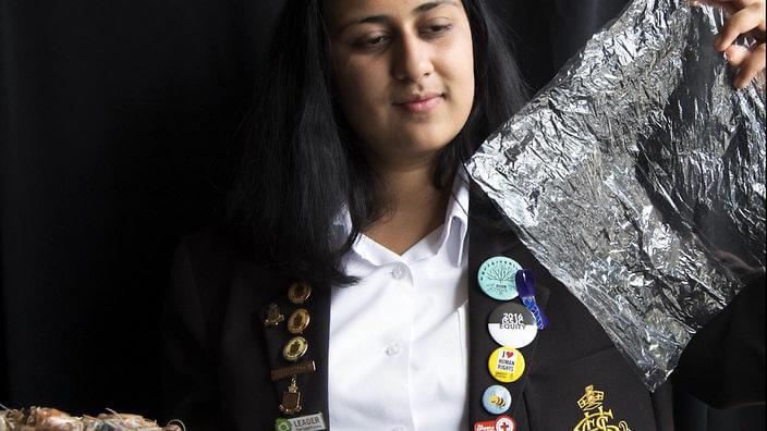 Angelina Arora de 16 años, crea un nuevo plástico biodegradable
